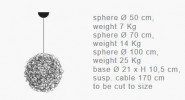 Catellani & Smith Fil de Fer Pendant LED 50 Grafik