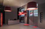 Foscarini Twice as Twiggy Sospensione und Terra karmesinrot
