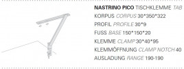 Byok Nastrino Pico Tischklemme Grafik