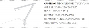 Byok Nastrino Tischklemme Grafik