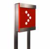 Keilbach - Glasnost Briefkasten mit Stativ