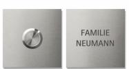 Keilbach - Klingelelement Jingle Square, hier mit passender Nameplate