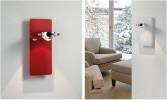 Licht im Raum Ocular Wandleuchte Glas Serie 100 Niedervolt rot und weiß
