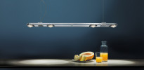 Licht im Raum Ocular 4 LED lang Edelstahl gebuerstet