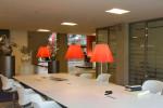 Luceplan Costanza Tischleuchte rot Gestell Alu