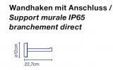 Marset Santorini Wandhalterung für Wandanschluss-Version Grafik