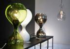 Next Blubb Tisch grün, opal und chrom
