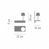 Vibia Suite 6046 Diffusor rechts Grafik