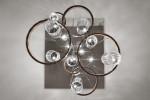 Vistosi Armonia SP 50 Version 1, Gläser Kristall/Kristall, Ring schwarz/Kupfer (links und rechts)