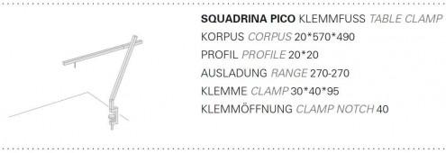Squadrina Pico Tischklemme