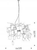 Zettelz 5 Metallstäbe zur Befestigung der Zettel (komplettes Set)